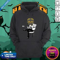 Sugar Skull Guitar Player Dia De Los Muertos Day Dead Hoodie