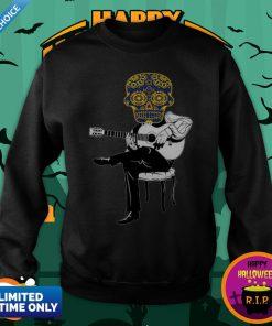 Sugar Skull Guitar Player Dia De Los Muertos Day Dead Sweatshirt