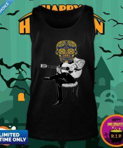 Sugar Skull Guitar Player Dia De Los Muertos Day Dead Tank TopSugar Skull Guitar Player Dia De Los Muertos Day Dead Tank Top