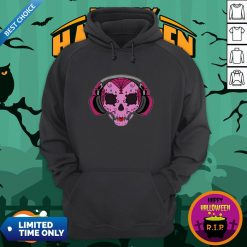 Sugar Skull Pink Music Day Of The Dead Hoodie