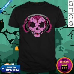 Sugar Skull Pink Music Day Of The Dead Shirt