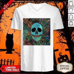 Sugar Skulls Day Of The Dead Nola Colors Classic V-neck