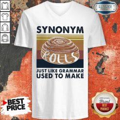 Synonym Rolls Just Like Grammar Used To Make Vintage V-neck
