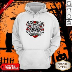 The Mexican Black Sugar Skull And Roses Day Of The Dead Muertos Hoodie