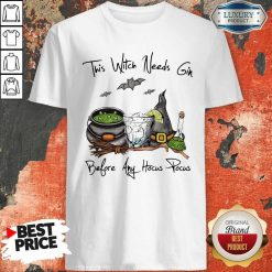 This Witch Needs Coffee Before Any Hocus Pocus Bats Halloween Shirt