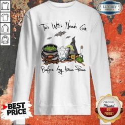 This Witch Needs Coffee Before Any Hocus Pocus Bats Halloween Sweatshirt