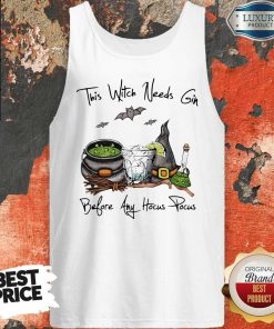 This Witch Needs Coffee Before Any Hocus Pocus Bats Halloween Tank TopThis Witch Needs Coffee Before Any Hocus Pocus Bats Halloween Tank Top