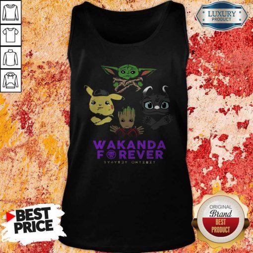 Wakanda Forever Baby Yoda Pokemon Toothless Tank Top