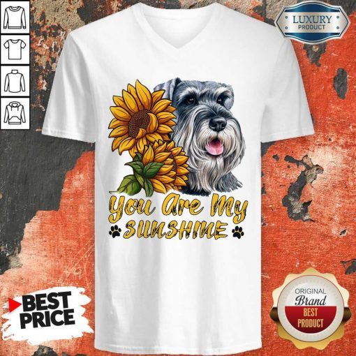 You Are My Sunshine Schnauzer Sunflower V-neck