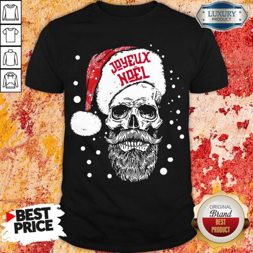 Funny Santa Skull Joyeux Noel Shirt-Design By Soyatees.com