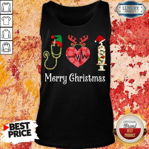 Happy Medical Instruments Merry Christmas Tank Top-Design By Soyatees.com