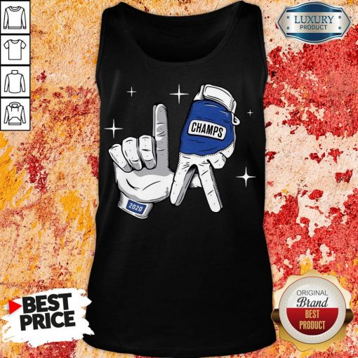 Nice Los Angeles Dodgers Safety Glove Champs Tank Top-Design By Soyatees.com