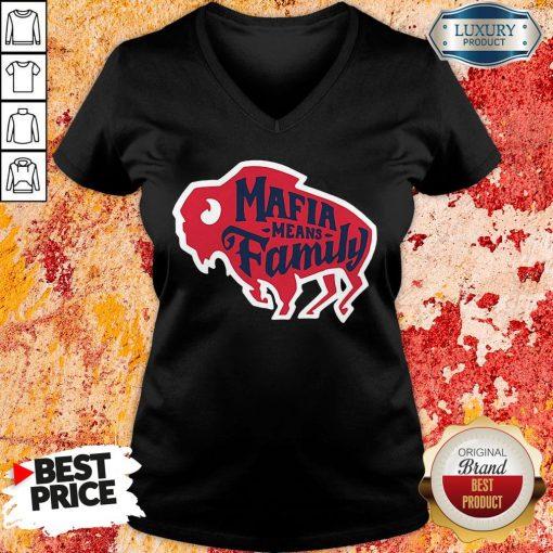 Top Buffalo Bills Mafia Means Family V-neck-Design By Soyatees.com