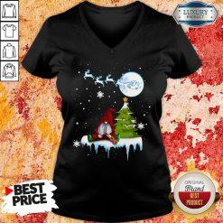 Good Gnome Play Violin Merry Christmas Shirt V-neck -Design By Soyatees.com