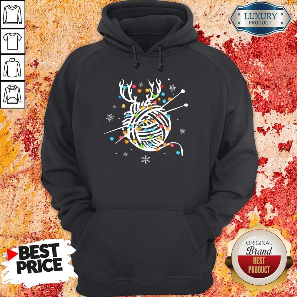 Hot Crochet And Knitting Lighting Yarn Christmas Hoodie-Design By Soyatees.com