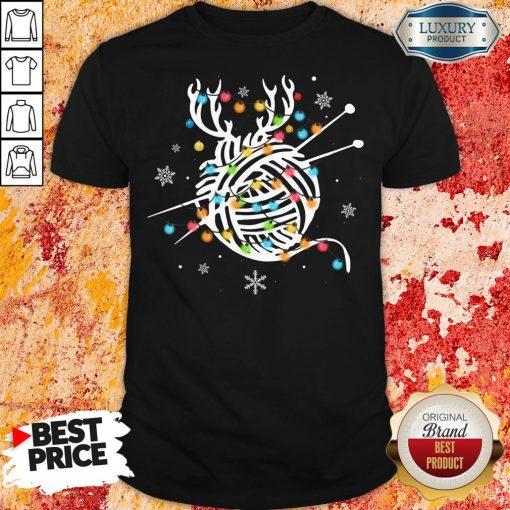 Hot Crochet And Knitting Lighting Yarn Christmas Shirt-Design By Soyatees.com