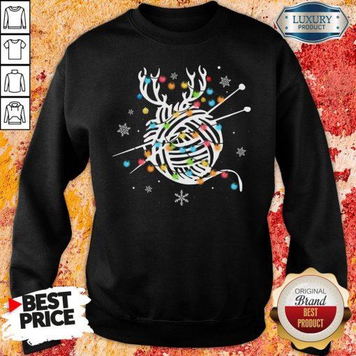 Hot Crochet And Knitting Lighting Yarn Christmas Sweatshirt-Design By Soyatees.com
