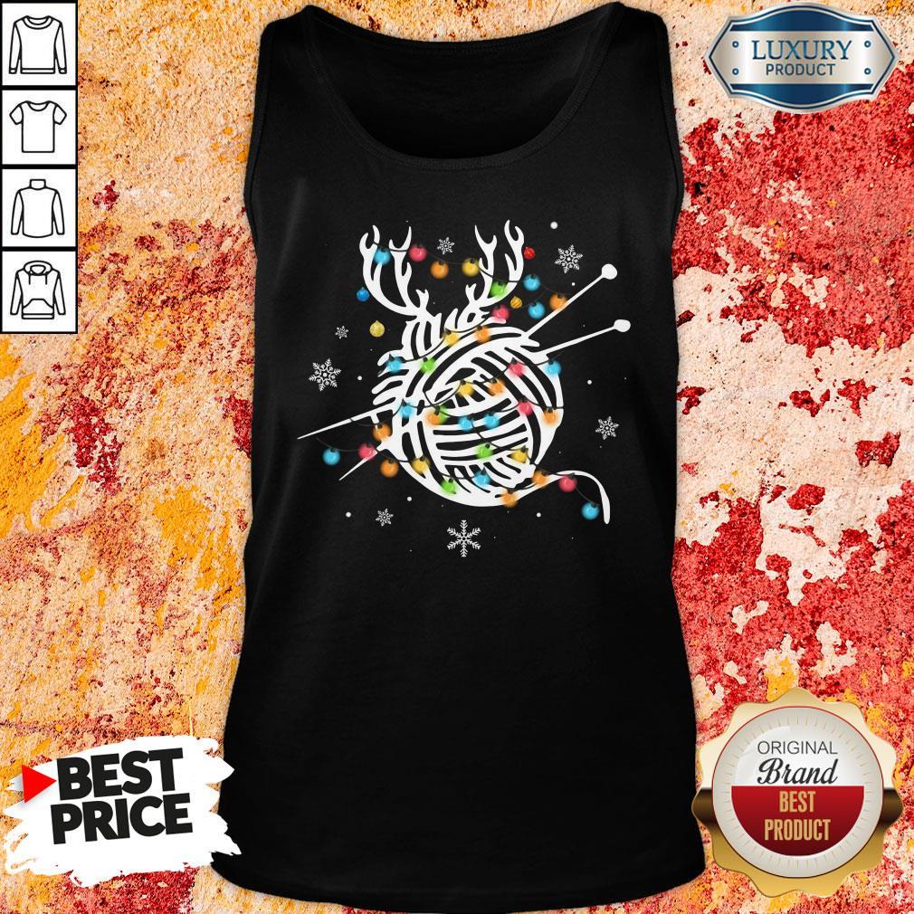 Hot Crochet And Knitting Lighting Yarn Christmas Tank Top-Design By Soyatees.com