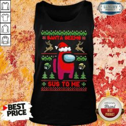Awesome Among Us Santa Seems Sus To Me Ugly Christmas Tank Top-Design By Soyatees.com