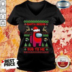 Awesome Among Us Santa Seems Sus To Me Ugly Christmas Sweatshirt-Design By Soyatees.com