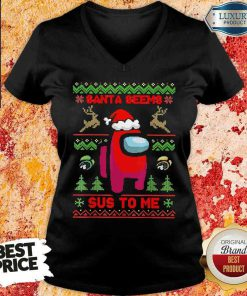 Awesome Among Us Santa Seems Sus To Me Ugly Christmas Sweatshirt-Design By Soyatees.com