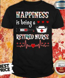 Awesome Happiness Is Being A Retired Nurse Shirt-Design By Soyatees.com
