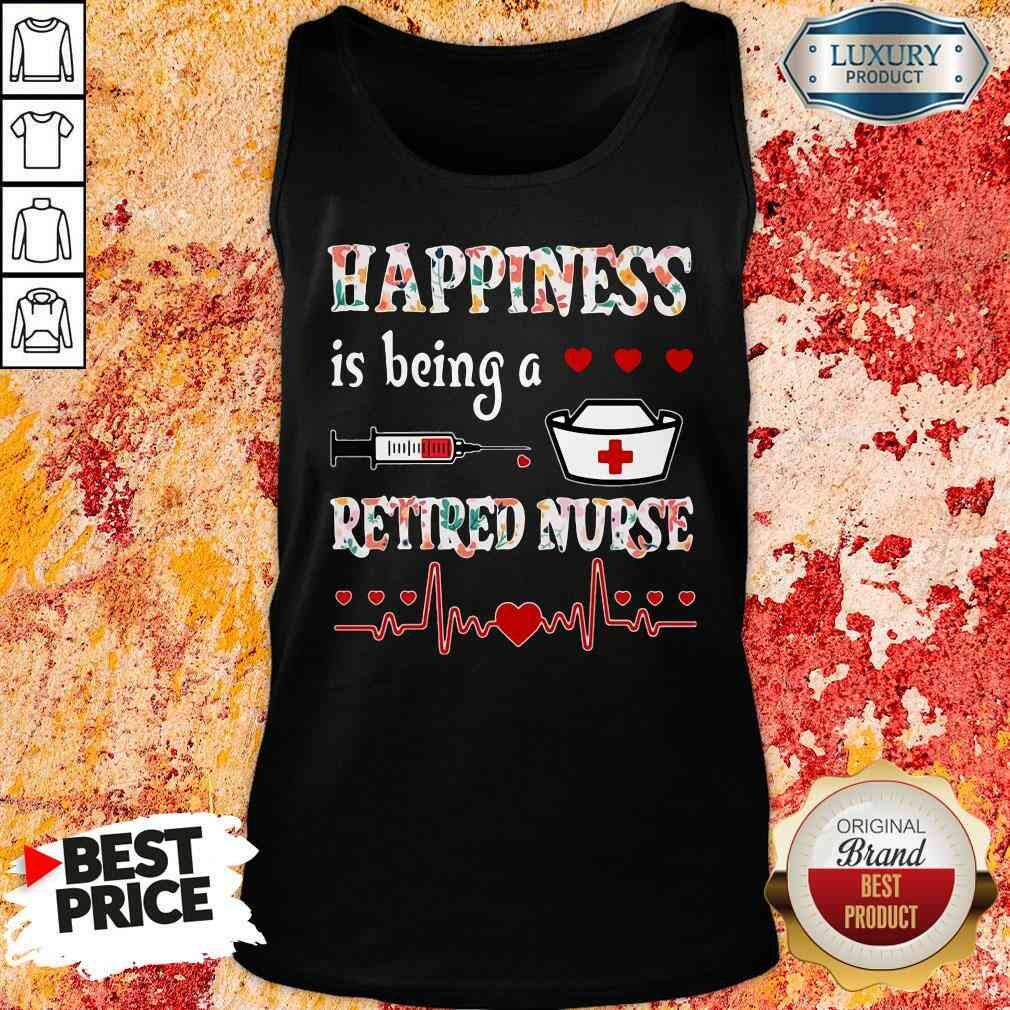 Awesome Happiness Is Being A Retired Nurse Tank Top-Design By Soyatees.com
