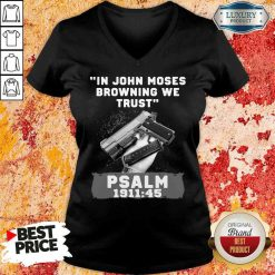 Awesome In John Moses Browning We Trust Psalm 1911 47 V-neck-Design By Soyatees.com