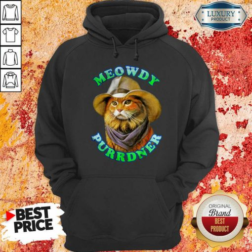 Meowdy Purrdner Cat Funny Hoodie-Design By Soyatees.com