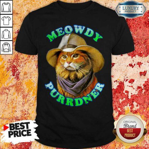 Meowdy Purrdner Cat Funny Shirt-Design By Soyatees.com