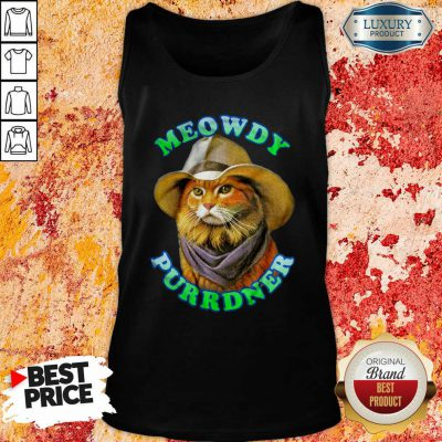 Meowdy Purrdner Cat Funny Tank Top-Design By Soyatees.com