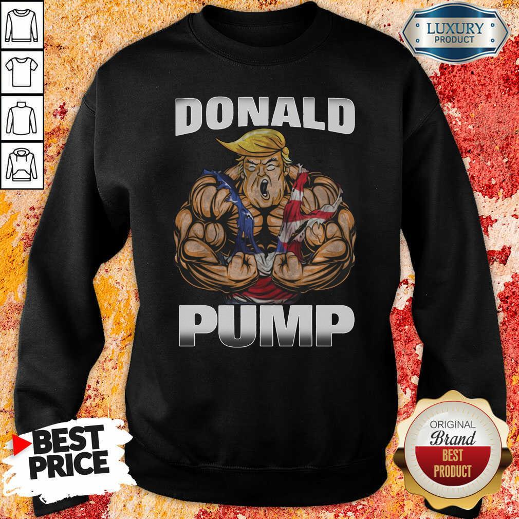 Strong Man Donald Pump Sweatshirt-Design By Soyatees.com