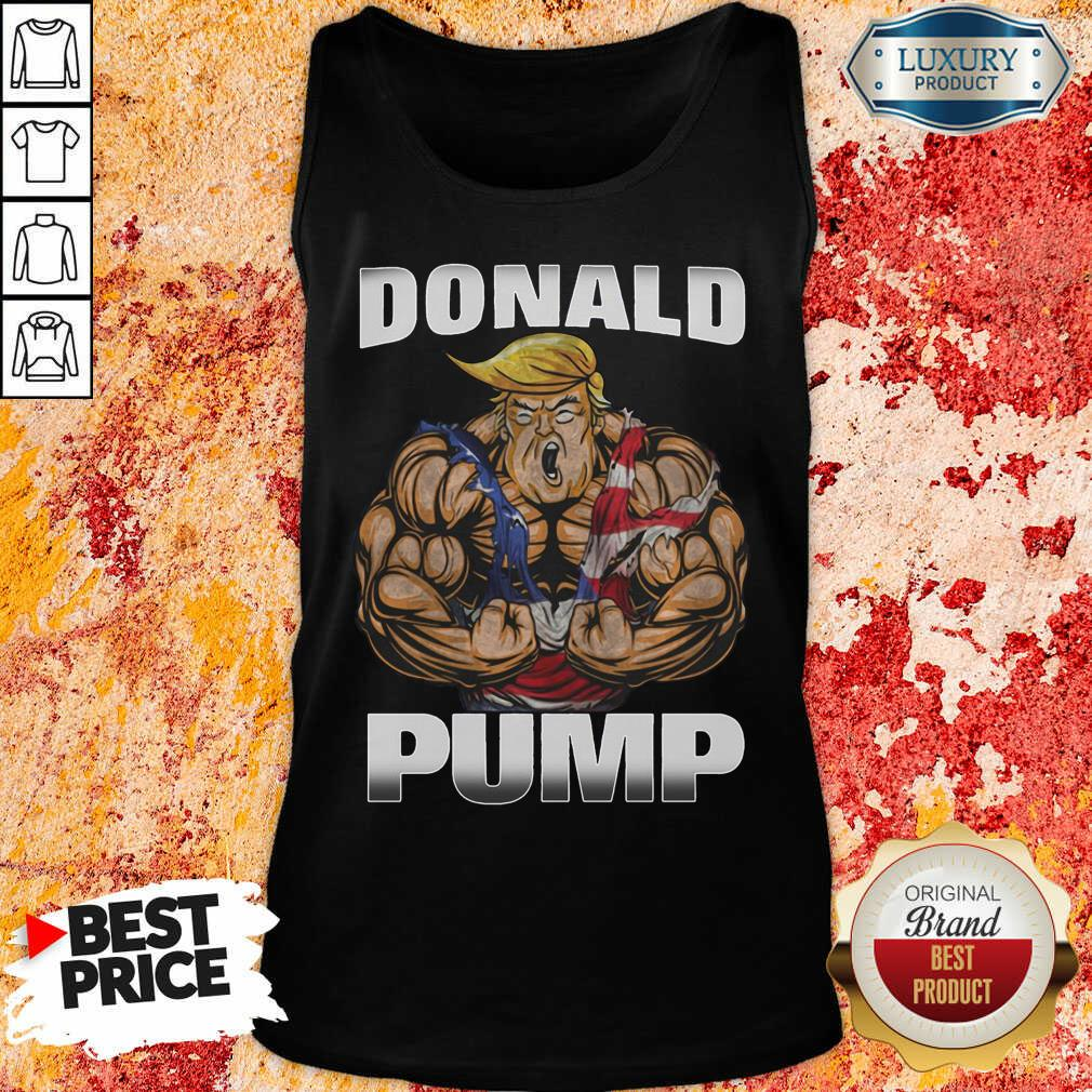 Strong Man Donald Pump Tank Top-Design By Soyatees.com