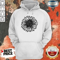 Awesome Sunflower Black And White Hoodie-Design By Soyatees.com