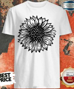 Awesome Sunflower Black And White Shirt-Design By Soyatees.com