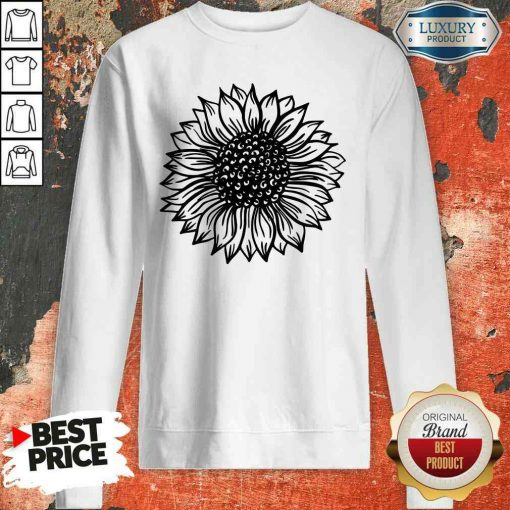 Awesome Sunflower Black And White Sweatshirt-Design By Soyatees.com