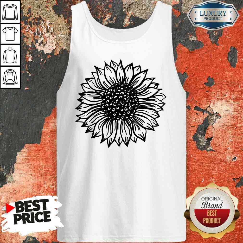 Awesome Sunflower Black And White Tank Top-Design By Soyatees.com