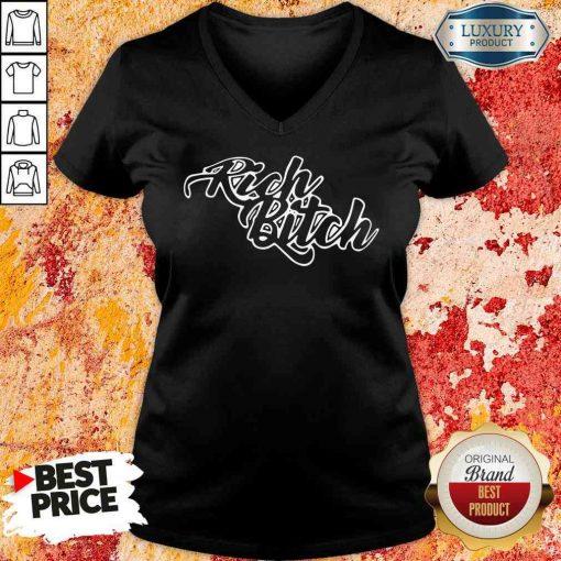 Pretty Rich Bitch 2020 V-neck-Design By Soyatees.com