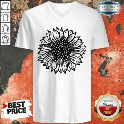 Awesome Sunflower Black And White V-neck-Design By Soyatees.com