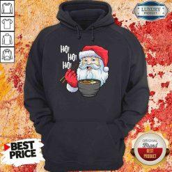 Cool Santa Eat Ramen Ho Ho Ho Merry Christmas Hoodie-Design By Soyatees.com