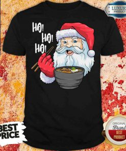 Cool Santa Eat Ramen Ho Ho Ho Merry Christmas Shirt-Design By Soyatees.com