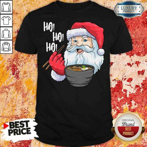 Cool Santa Eat Ramen Ho Ho Ho Merry Christmas Shirt-Design By Soyatees.com