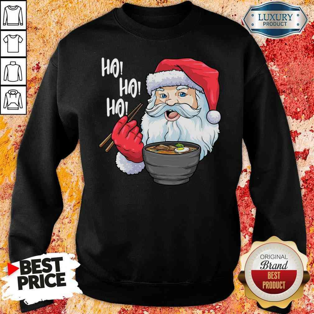 Cool Santa Eat Ramen Ho Ho Ho Merry Christmas Sweatshirt-Design By Soyatees.com