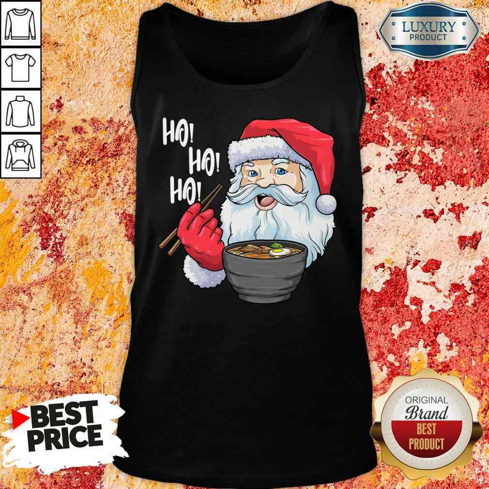 Cool Santa Eat Ramen Ho Ho Ho Merry Christmas Tank Top-Design By Soyatees.com