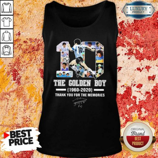10 Diego Armando Maradona The Golden Boy 1960 – 2020 Signature Thanks Tank Top-Design By Soyatees.com