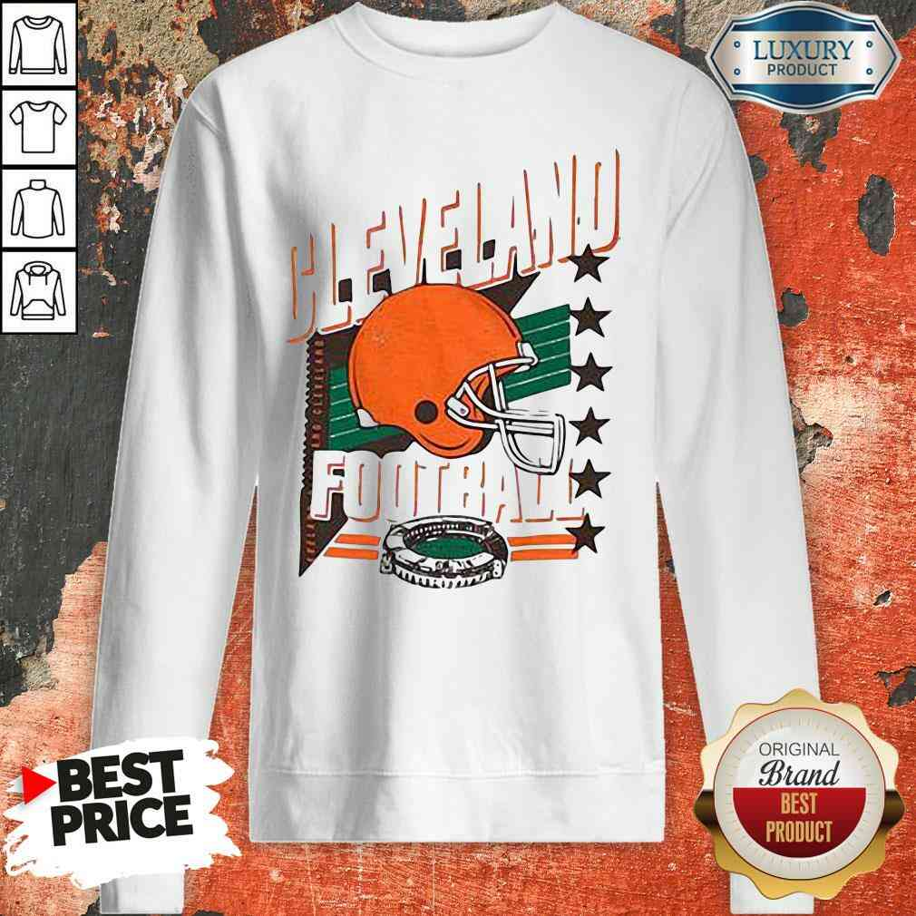 Funny Cleveland Browns Football America Stars Sweatshirt-Design By Soyatees.com