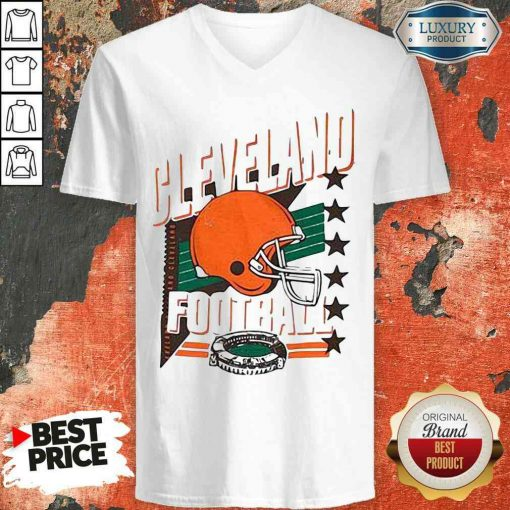 Funny Cleveland Browns Football America Stars V-neck-Design By Soyatees.com