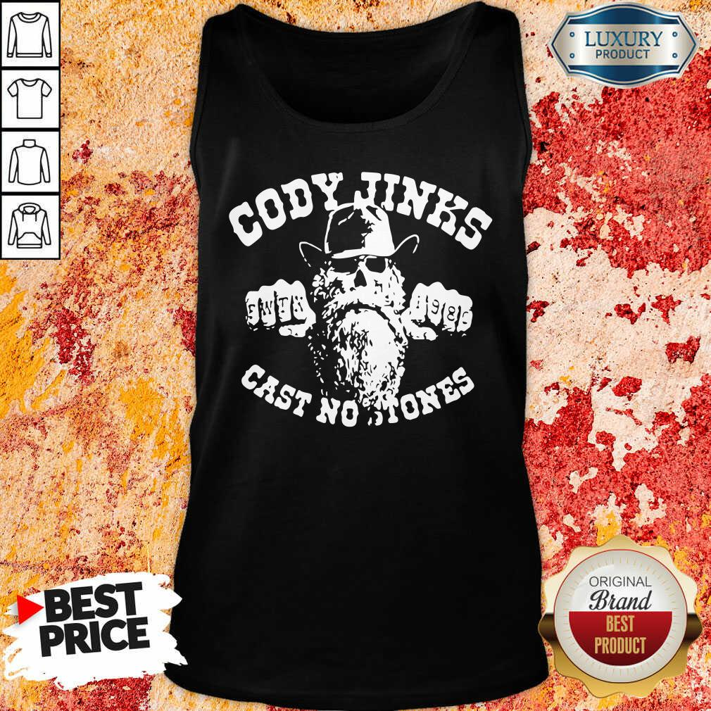 """""""Funny Cody Jinks Cast No Stones Tank top-Design By Soyatees.com"""