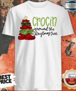 Funny Crocin Around The Christmas Tree Shirt-Design By Soyatees.com