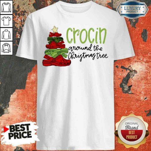 Funny Crocin Around The Christmas Tree Shirt-Design By Soyatees.com